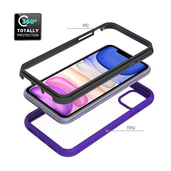 Grote foto for iphone 11 starry sky solid color series shockproof pc telecommunicatie mobieltjes