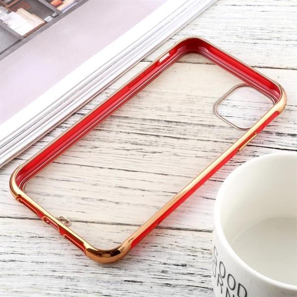Grote foto for iphone 11 sulada colorful edge series shockproof tpu e telecommunicatie mobieltjes