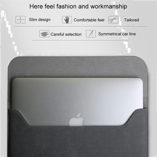 Grote foto 2 in 1 horizontal matte leather laptop inner bag power bag computers en software overige