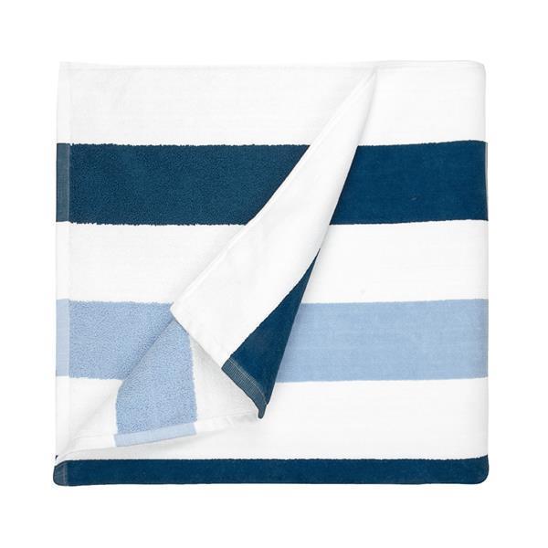 Grote foto joshua strandlaken 100 katoen 90x190 cm stripe marine l kleding dames badmode en zwemkleding