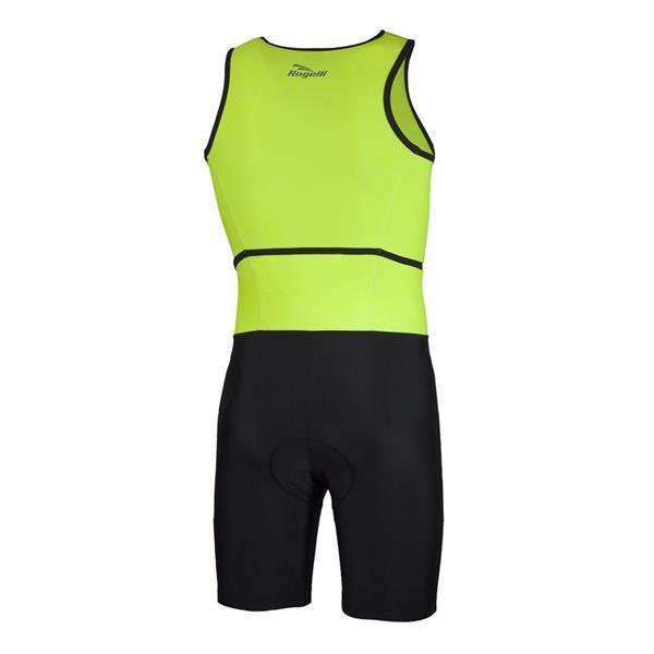 Grote foto triathlon pak type florida zwart fluor geel kleding heren sportkleding