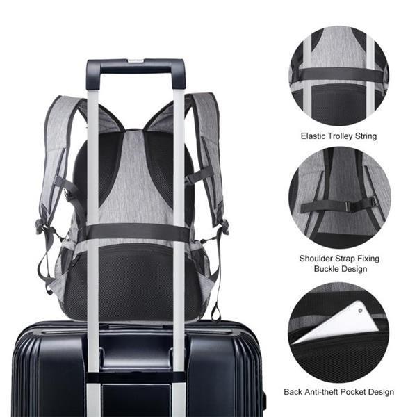 Grote foto haweel outdoor portable canvas dual shoulders laptop backpac sieraden tassen en uiterlijk rugtassen