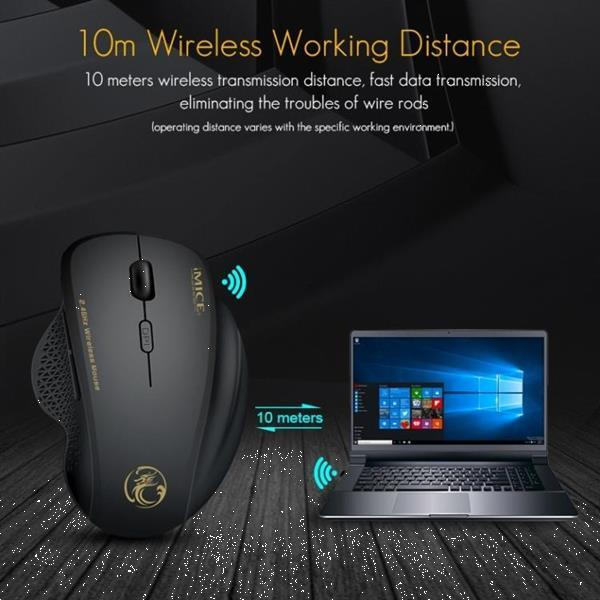 Grote foto imice g6 wireless mouse 2.4g office mouse 6 button gaming mo computers en software toetsenborden