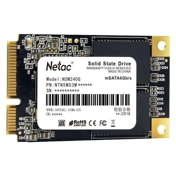 Grote foto netac n5m 240gb msata 6gb s solid state drive computers en software overige computers en software