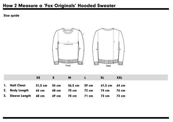 Grote foto fox originals amsterdam collegiate zipped hoodie maat s kleding heren truien en vesten
