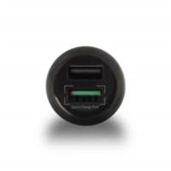 Grote foto ewent usb car charger two port 5a qualcomm qc3.0 telecommunicatie opladers en autoladers