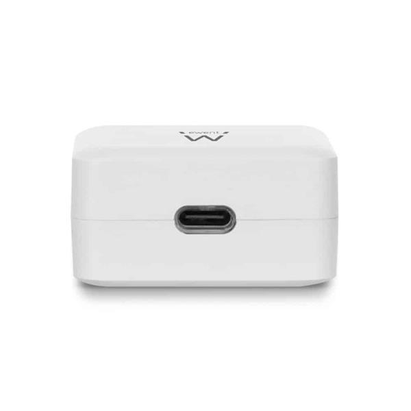 Grote foto ewent usb c charger 110 240v 1 port 18w white telecommunicatie opladers en autoladers