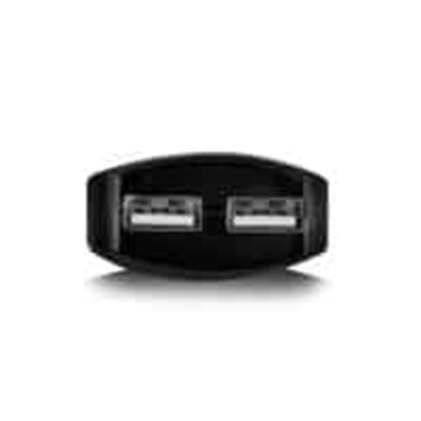 Grote foto ewent usb charger 110 240v 2 port smart charging 3.1a black telecommunicatie opladers en autoladers