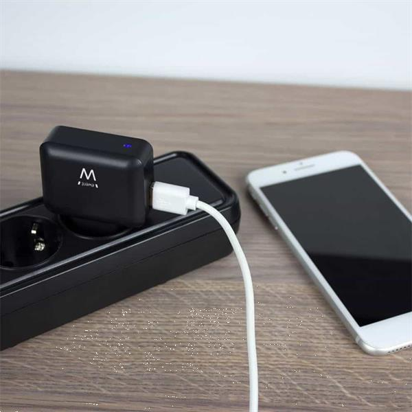 Grote foto ewent usb charger 110 240v for smartphone 2.4a black telecommunicatie opladers en autoladers