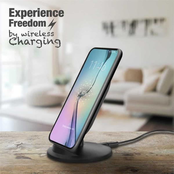 Grote foto ewent universal fast wireless charging stand for smartphone telecommunicatie opladers en autoladers