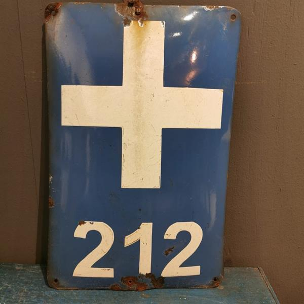 Grote foto blauw emaille bord 212 verzamelen overige verzamelingen