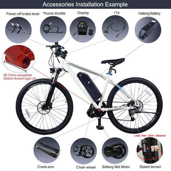 Grote foto bafang bbs01 36v 250w complete set incl batterij en lade fietsen en brommers elektrische fietsen
