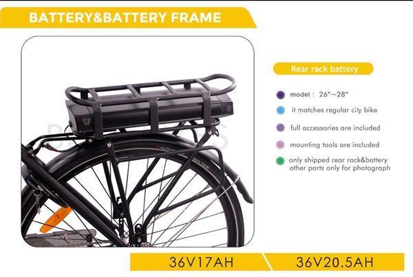 Grote foto bafang bbs02 36v 350w complete set incl batterij en lade fietsen en brommers elektrische fietsen