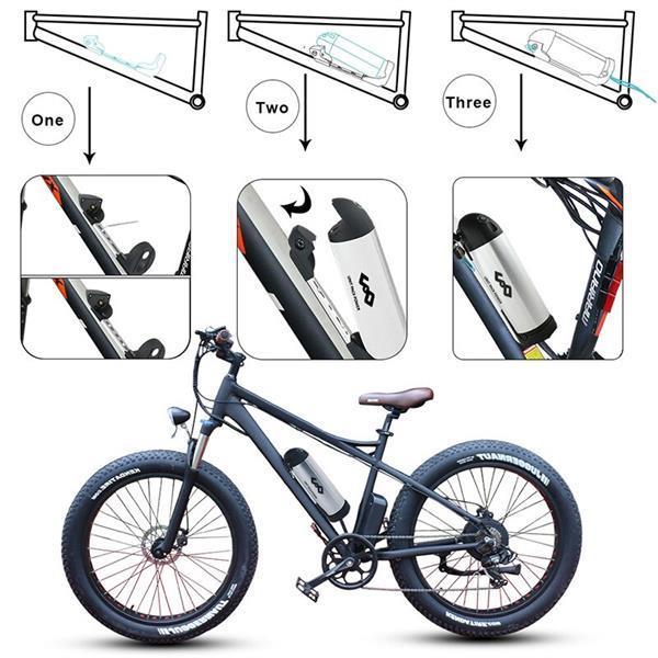 Grote foto e bike bidon accu 48 volt samsung batterij cellen fietsen en brommers elektrische fietsen