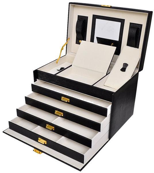 Grote foto luxe sieradenbox met spiegel 30 5x19 5x20 alleen deze wee witgoed en apparatuur persoonlijke verzorgingsapparatuur