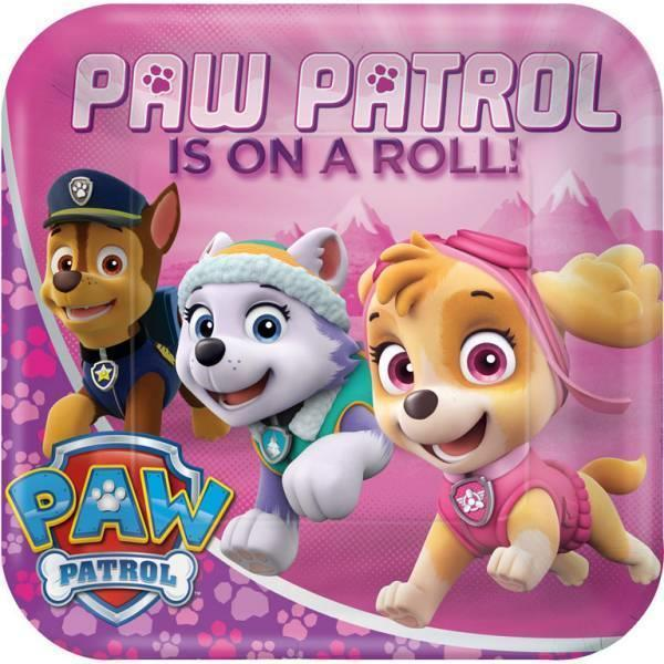 Grote foto paw patrol bordjes roze 18cm 8 stuks verzamelen overige verzamelingen