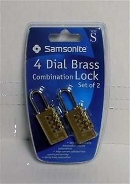 Grote foto samsonite 4 dial brass travel combination lock twin pack motoren overige accessoires