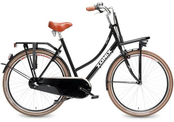 Grote foto zonix transportfiets city reflex 28 inch zwart 57 cm fietsen en brommers herenfietsen