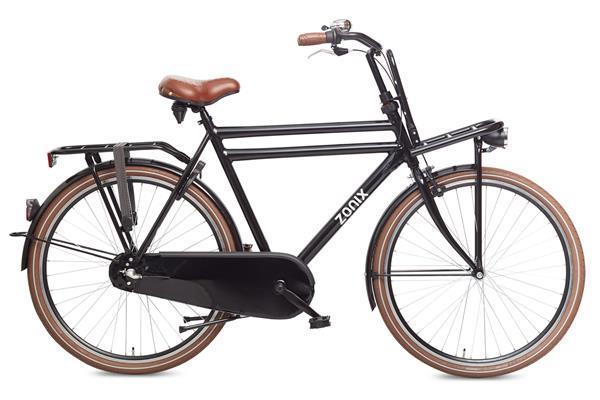 Grote foto zonix heren dutch h3 28 inch matzwart transportfiets 61 cm fietsen en brommers herenfietsen