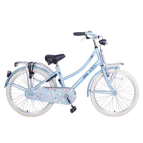 Grote foto omafiets 24 inch licht blauw met voordrager fietsen en brommers herenfietsen