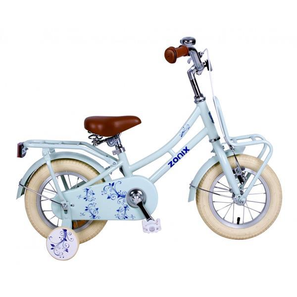 Grote foto zonix omafiets 12 inch pastel blauw met voordrager fietsen en brommers herenfietsen