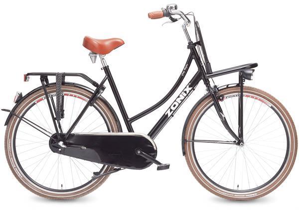 Grote foto zonix transportfiets city reflex 28 inch zwart 50cm fietsen en brommers herenfietsen