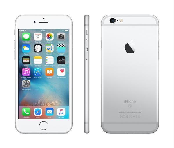 Grote foto apple iphone 6s silver 64gb telecommunicatie mobieltjes