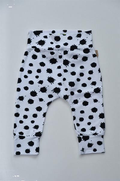 Grote foto skottig baby broekje wit met zwarte vlekjes 62 kinderen en baby overige