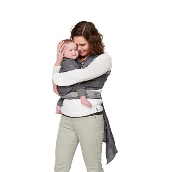 Grote foto bykay woven wrap deluxe maat 7 dark jeans kinderen en baby overige babyartikelen