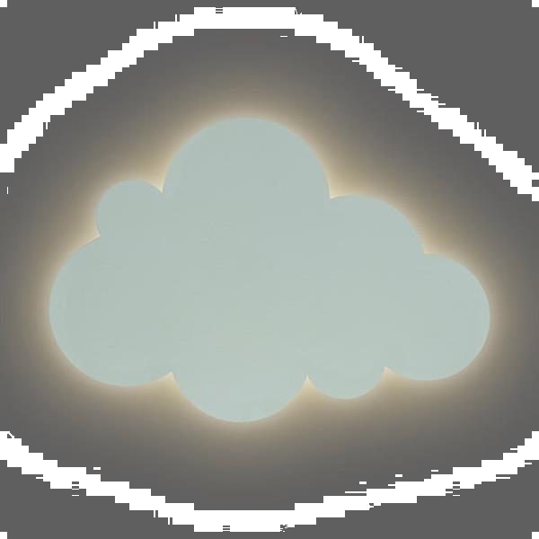 Grote foto wandlamp clouds green kinderen en baby complete kinderkamers