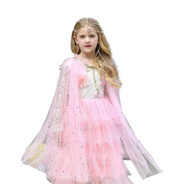 Grote foto prinsessen cape licht roze glitter gratis kroontje kinderen en baby overige