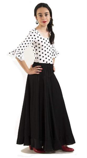 Grote foto spaanse flamenco rok meisjes zwart maat 10 kledingmaat 128 kinderen en baby overige