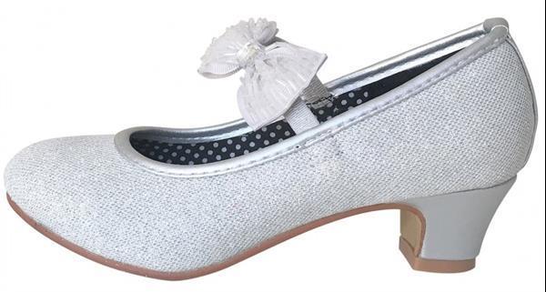 Grote foto spaanse schoenen zilver glitter strikje deluxe maat 25 bi kinderen en baby schoenen voor meisjes