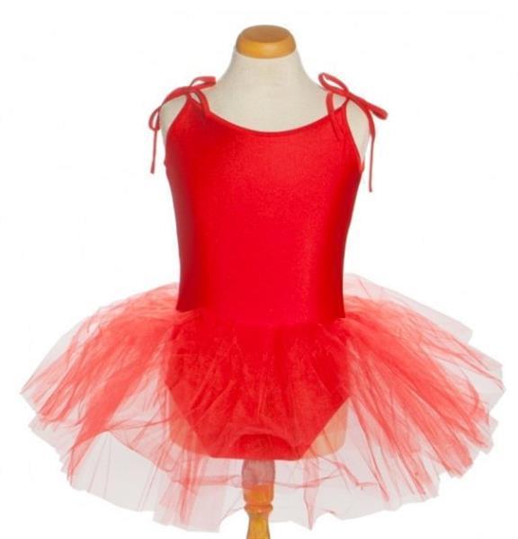 Grote foto balletpakje tutu met striklinten rood maat 6 kledingmaat 86 kinderen en baby overige