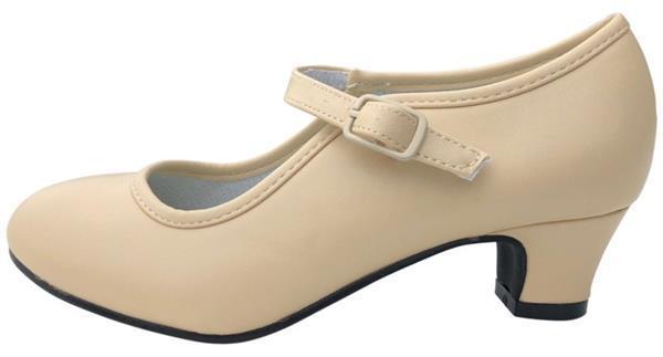 Grote foto spaanse schoenen beige maat 24 binnenmaat 16 cm kinderen en baby schoenen voor meisjes