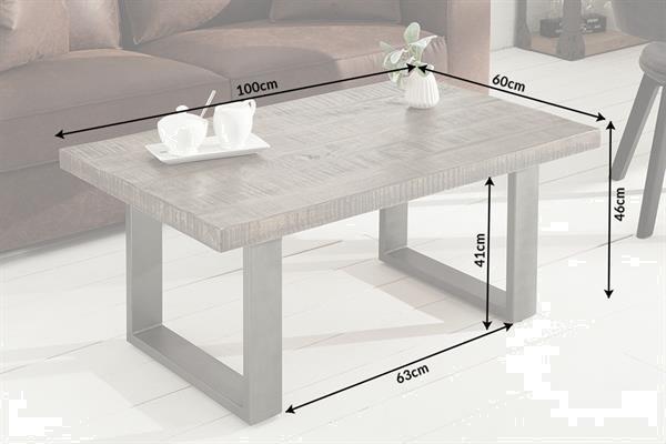 Grote foto salontafel mango hout grijs huis en inrichting eettafels