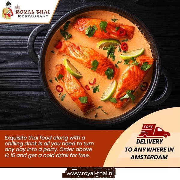 Grote foto thais food diensten en vakmensen catering