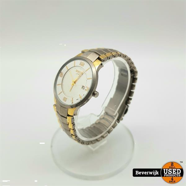 Grote foto boccia titanium 3191 03 dames horloge quartz in nette staa kleding dames horloges
