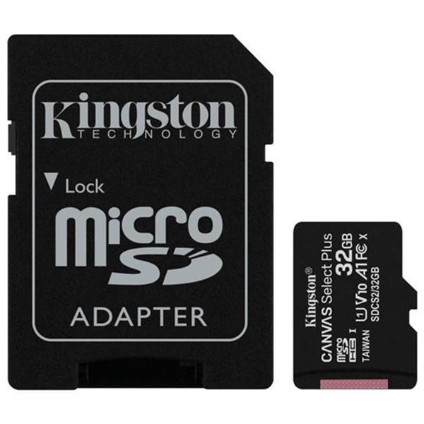 Grote foto kingston canvas select plus microsdhc 32gb sd adapter telecommunicatie toebehoren en onderdelen