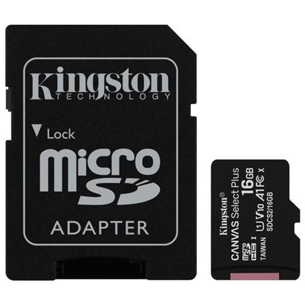Grote foto kingston canvas select plus microsdhc 16gb sd adapter telecommunicatie toebehoren en onderdelen