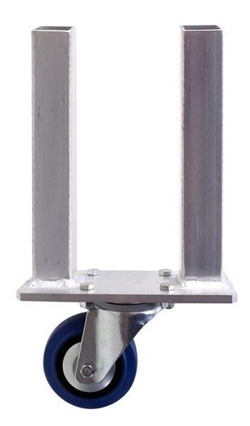Grote foto rdav aluminium dubbele poot 40 x 3 mm met wiel 47 cm netto muziek en instrumenten overige muziek en instrumenten