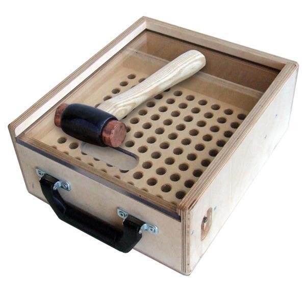 Grote foto kistje voor 100 trusspennen inclusief hamer muziek en instrumenten overige muziek en instrumenten