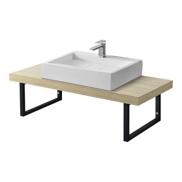 Grote foto badkamer wandschap badkamermeubel 100x45x30 eikenkleurig doe het zelf en verbouw gereedschappen en machines