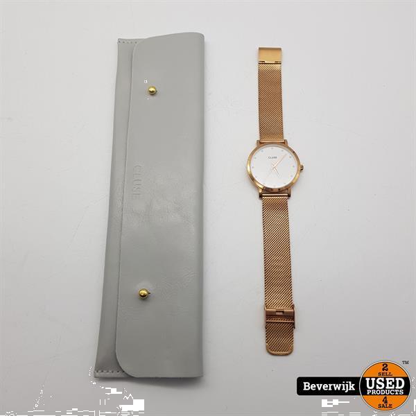 Grote foto cluse dameshorloge rose gold swarovski stenen in nette sta kleding dames horloges