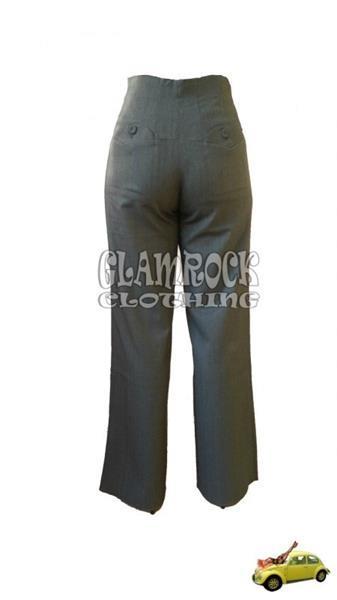 Grote foto miss candyfloss saratoga high waist striped pants in black kleding dames broeken en pantalons