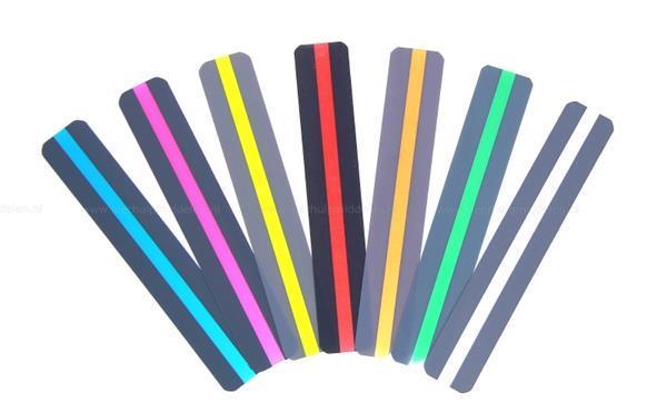 Grote foto ashley leesliniaal met gekleurde leeswijzer smal 12 stuks zakelijke goederen kantoorartikelen