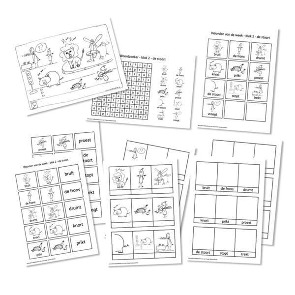 Grote foto spellingkleurplaten blok 2 de staart pdf bestand kinderen en baby overige