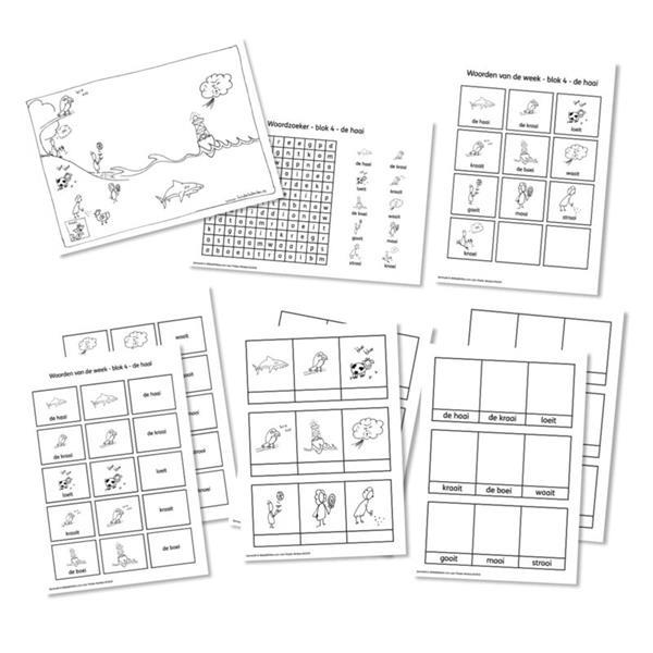 Grote foto spellingkleurplaten blok 4 de haai pdf bestand kinderen en baby overige