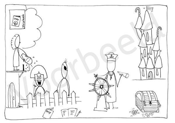 Grote foto spellingkleurplaten blok 4 het stripboek pdf bestand kinderen en baby overige