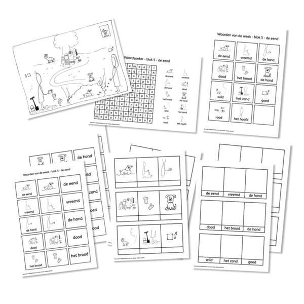 Grote foto spellingkleurplaten blok 5 de eend pdf bestand kinderen en baby overige
